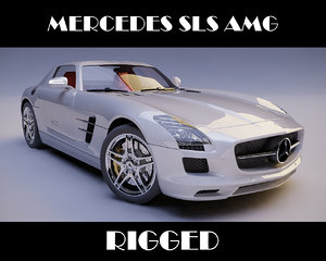 3ds max mercedes sls amg rigged car
