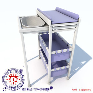 changing table sliding 3d 3ds
