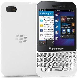 blackberry q5 white 3d model