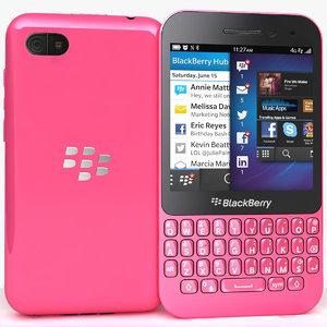 3d blackberry q5 pink