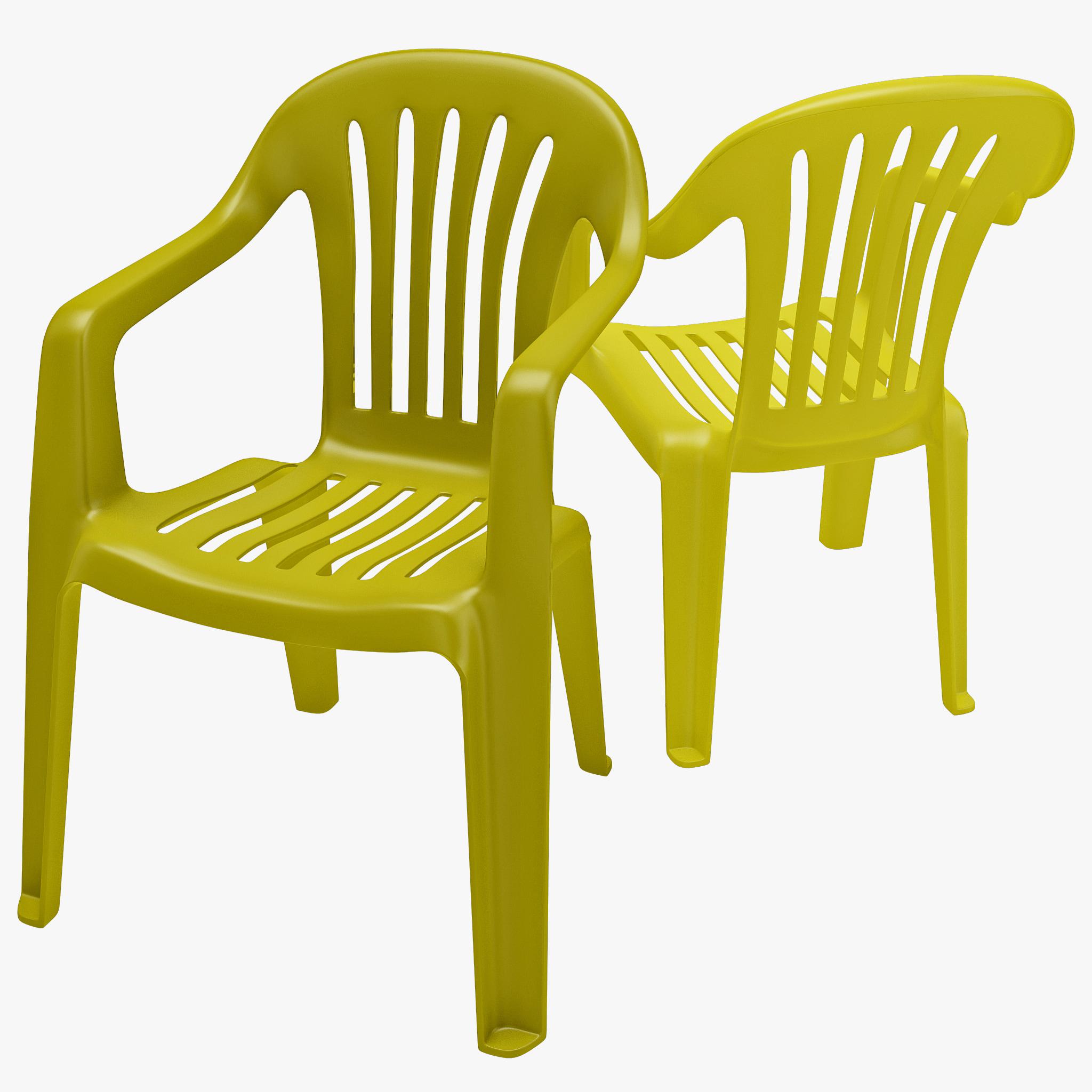 3d monobloc chair 1