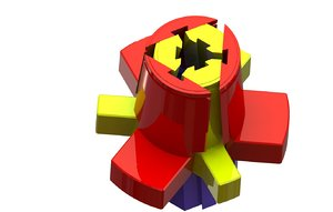 collapsible core 3d model