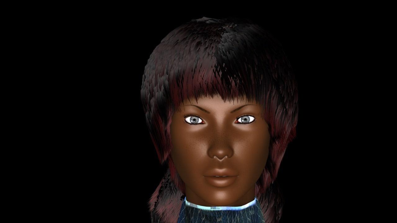 3d young woman celeste
