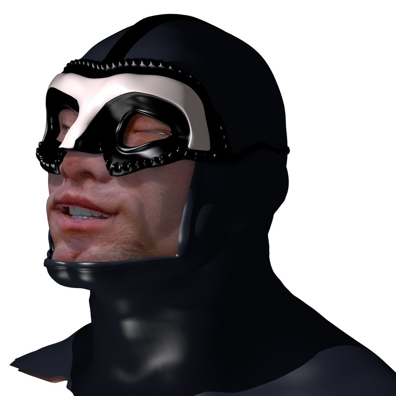 blender male head rigged 3