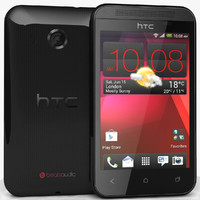 3d 3ds htc desire 200 black