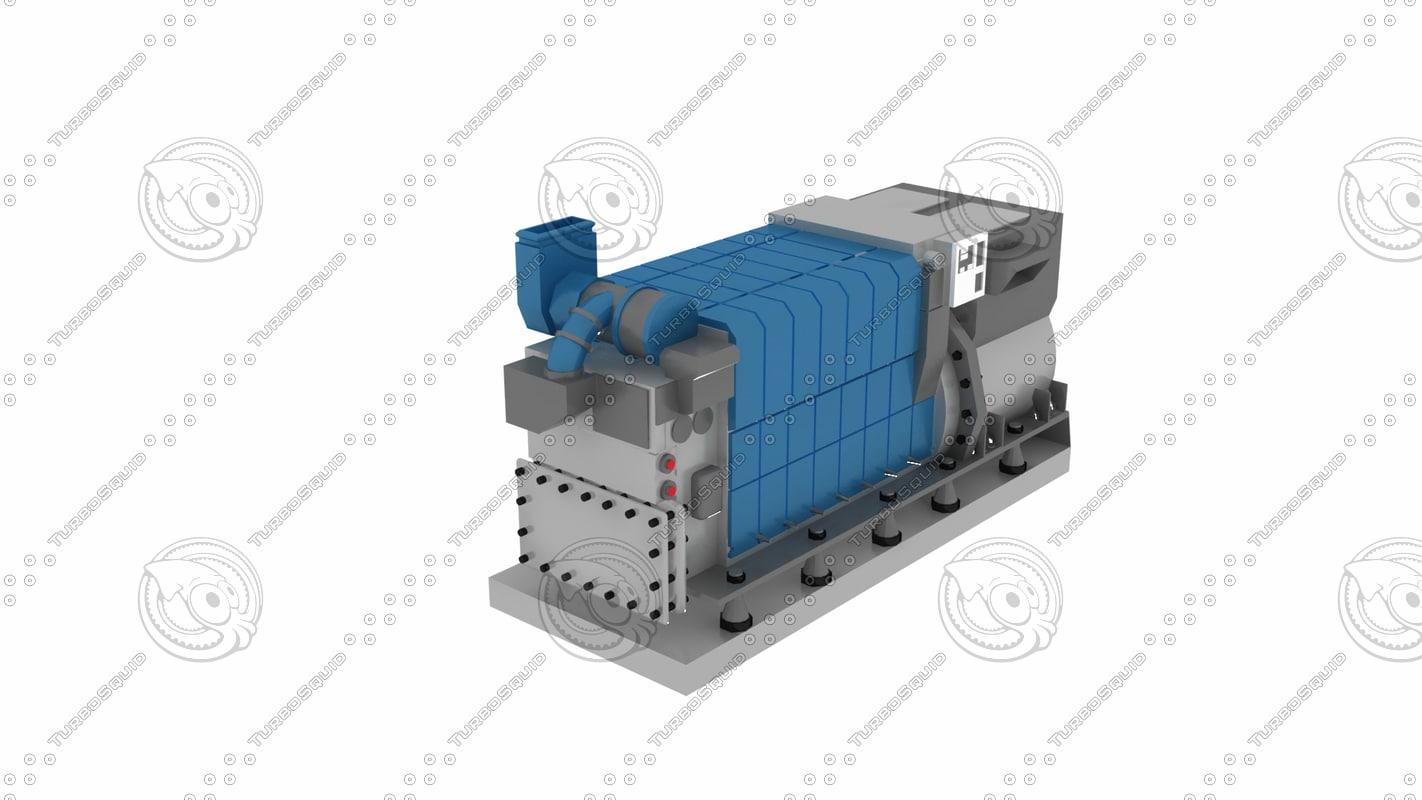 3d generator ship jenratör
