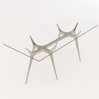 barcelona design table 3d model