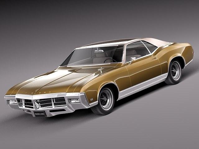 cruiser antique luxury 1969 3d model