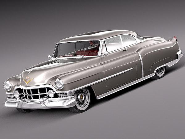 3d classic antique luxury coupe model