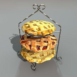storey cake 3d model