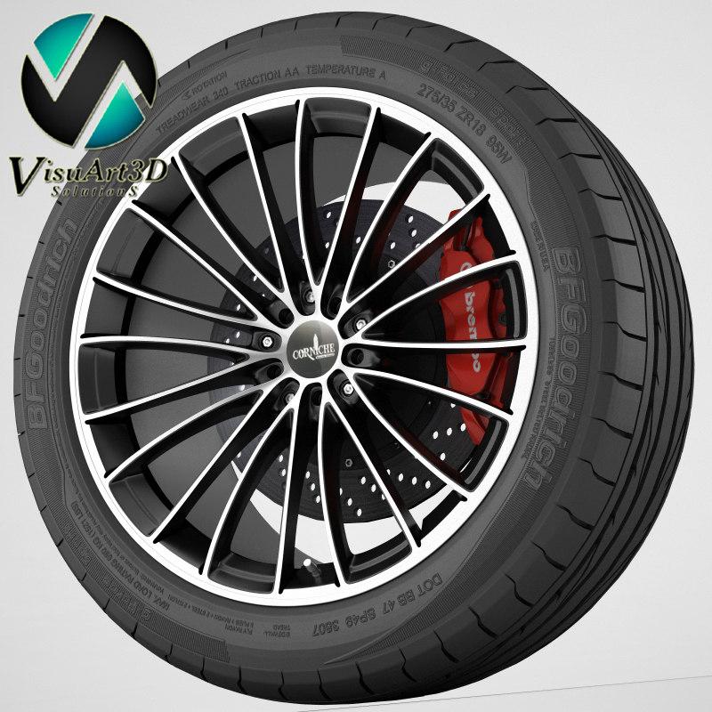 3d wheel corniche leman