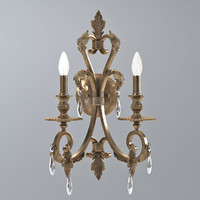 Crystorama Royal Candle Wall Sconce in Florentine Bronze