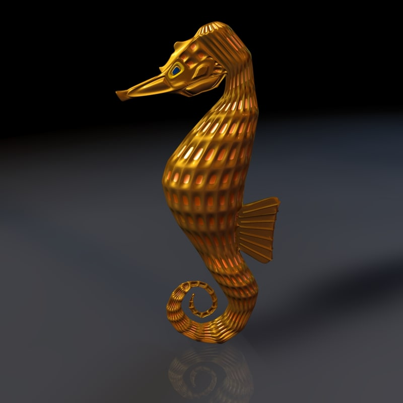 3ds seahorse
