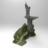 3d tower dragons