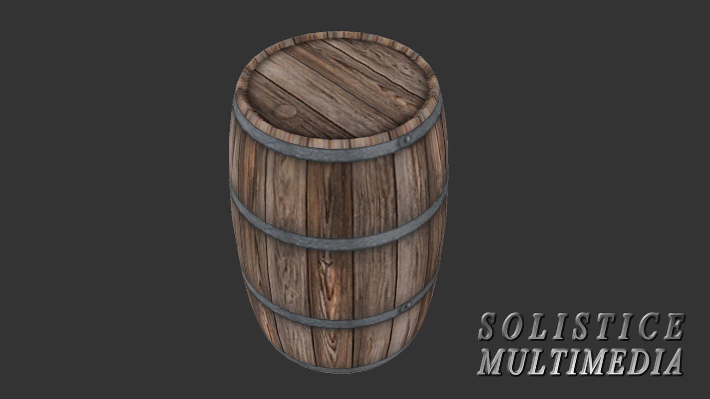 3d realistic barrel