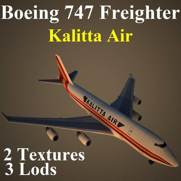 3d model boeing 747 cks aircraft