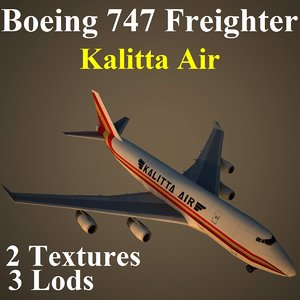 3d model boeing 747 cks aircraft
