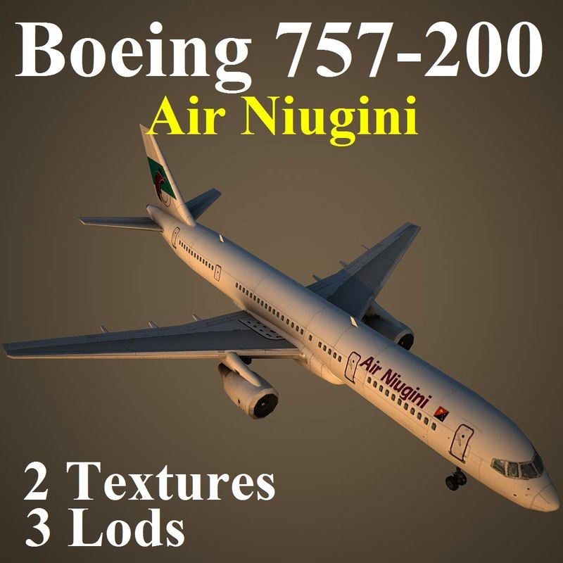 boeing 757-200 ang 3d model
