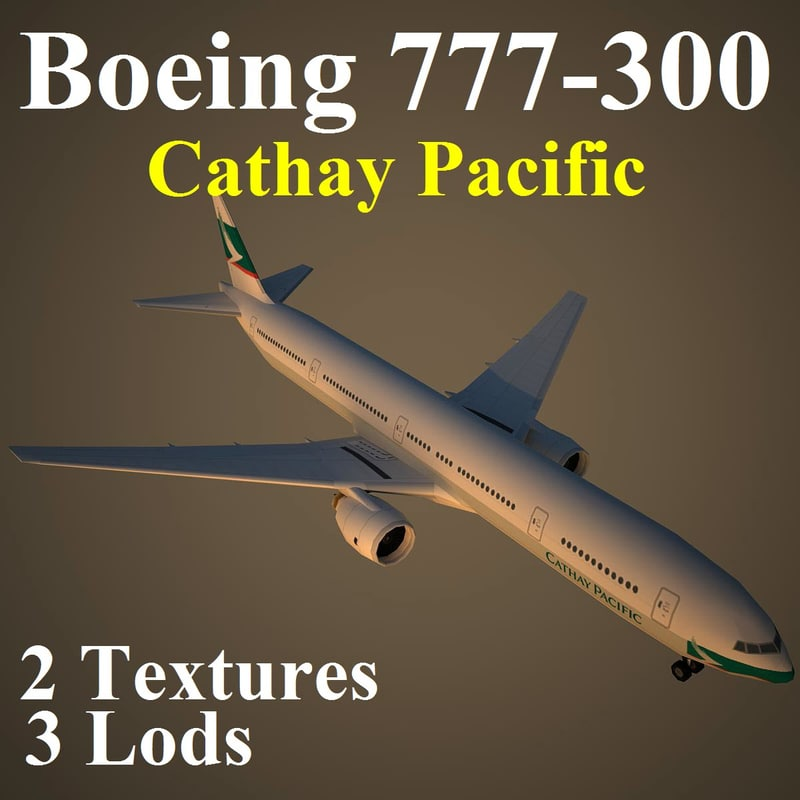 3d model of boeing 777-300 cpa