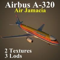 3d airbus ajm airliner model