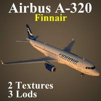 airbus fin 3d max