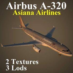 3d model airbus airlines aar