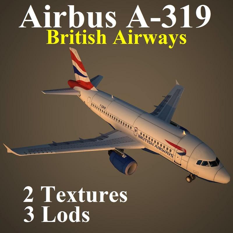 airbus baw 3d max