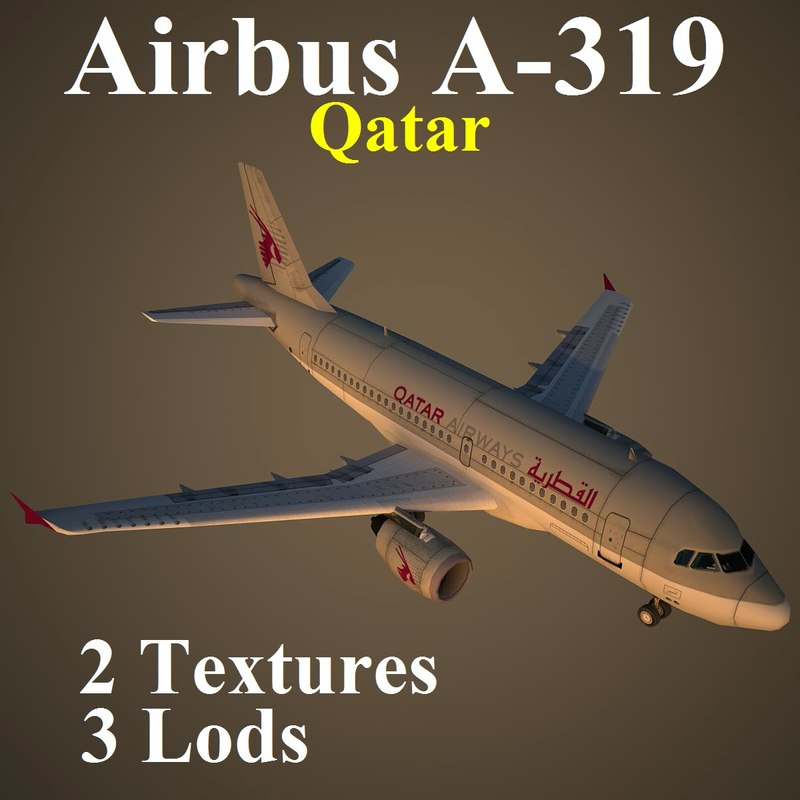 3d model airbus qtr