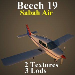 3d beech 19 sport sax model