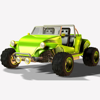 sand buggy 3d model
