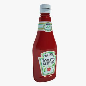 ketchup bottle 3d max