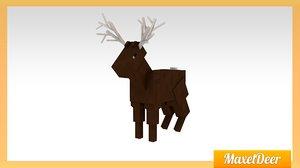 3d model deer minecraft maxel