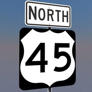u s highway 45 3d c4d