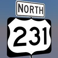 u s highway 231 3d c4d