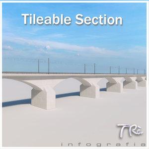3d max bridge section tileable