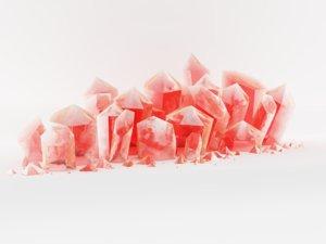3d crystal model