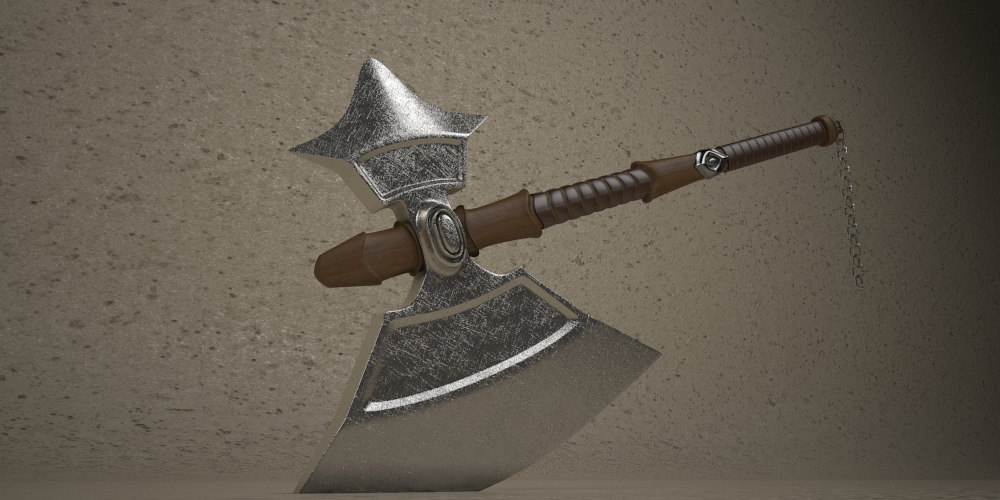 medieval axe ax 3d 3ds