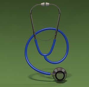 3d stethoscope heart beat model