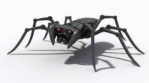 spider mechanic 3d obj