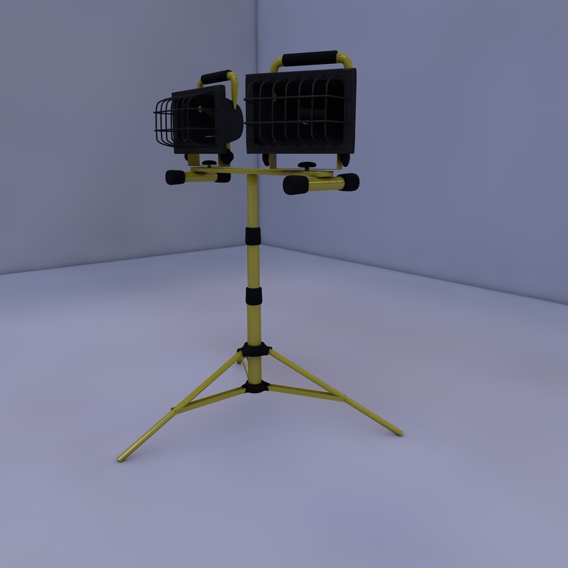 tripod work light 3d model