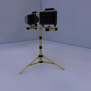 tripod work light 3d model