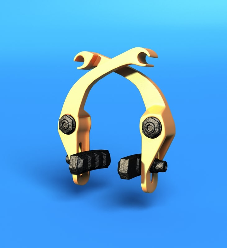 3d model bicycle brake