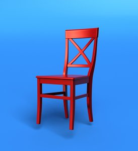 red chair 3d lwo