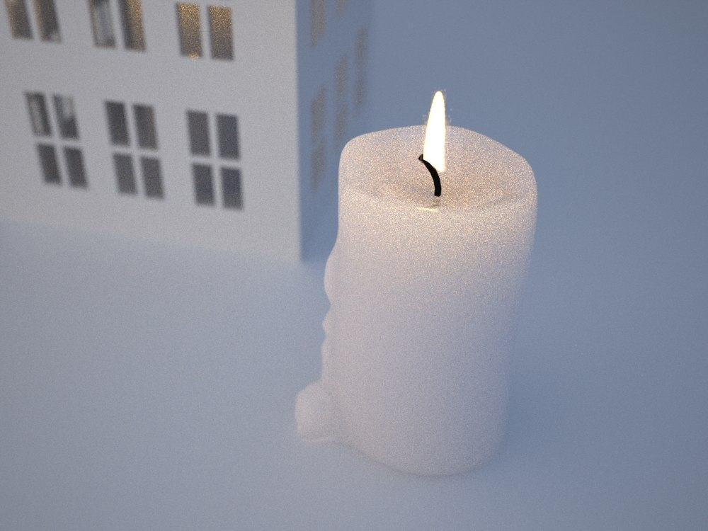 3d ornamental house candle