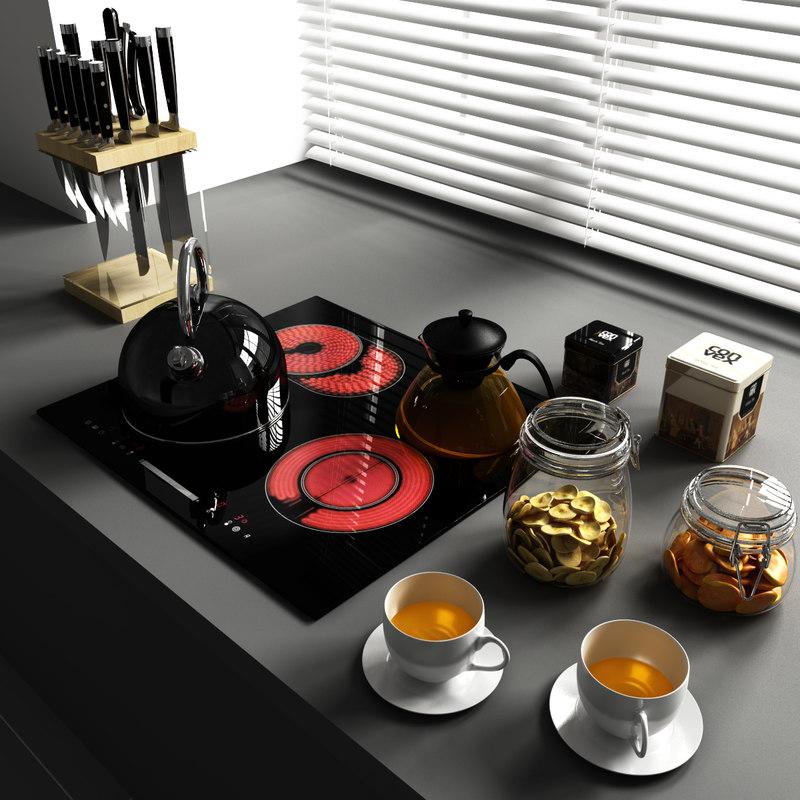 set 9 decorate kitchen 3d model