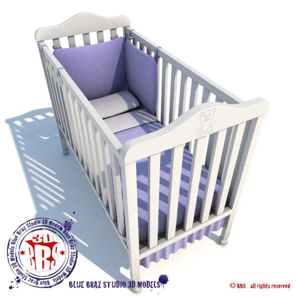 3d max baby crib