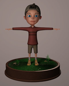 3d model rigged character