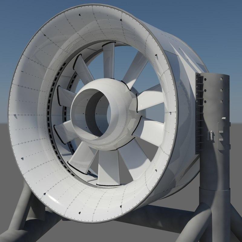 3d marine turbine