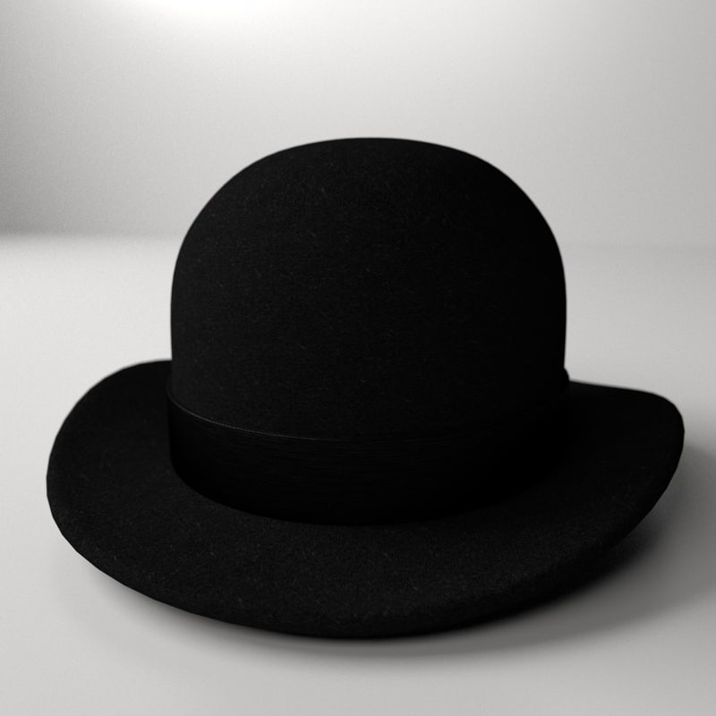 3d bowler hat model