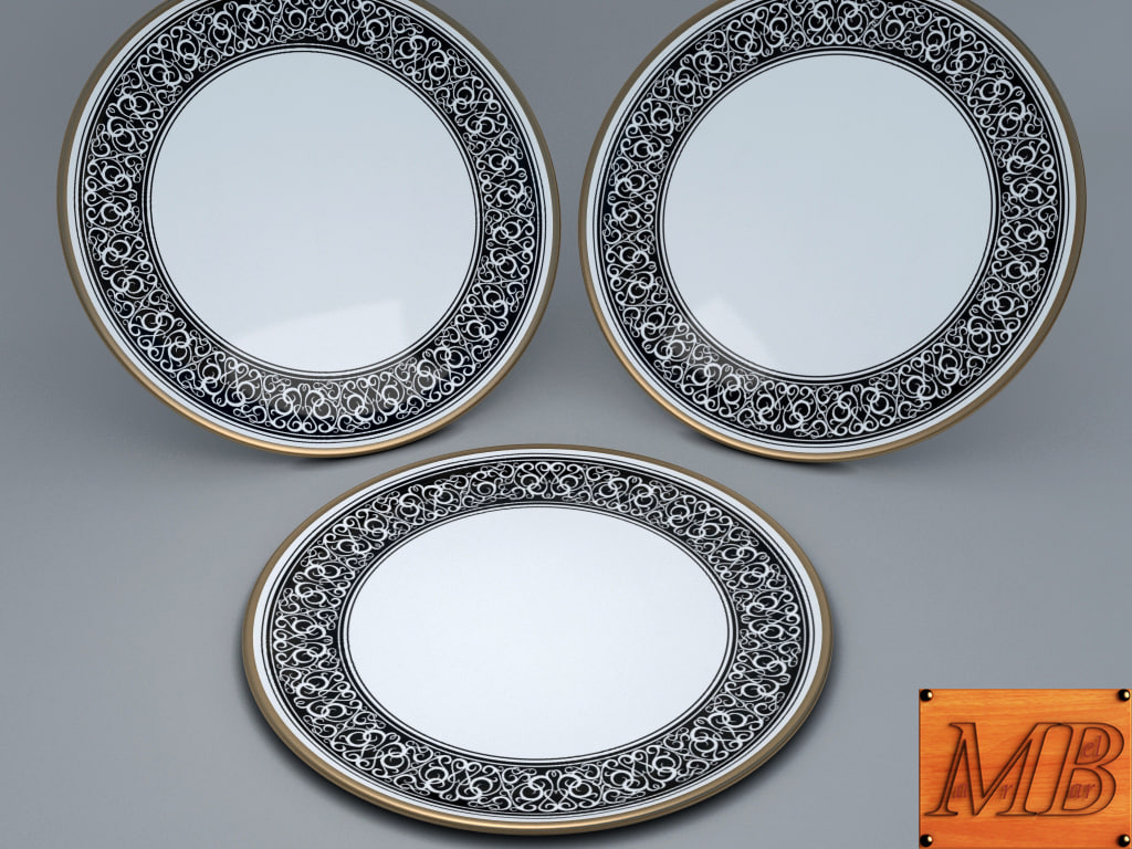 plate decorated 3d model